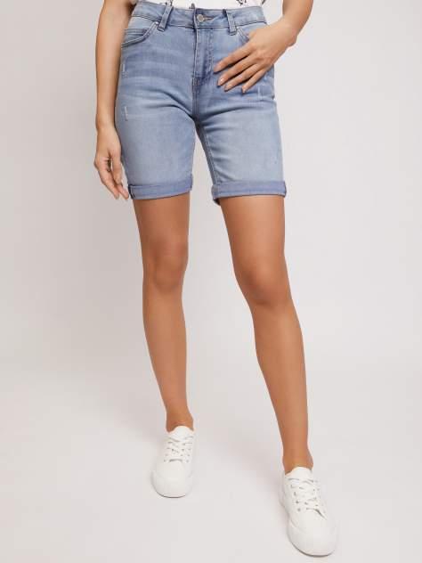 Джинсовые шорты женские Zolla z02124724Q01251D0 голубые XL