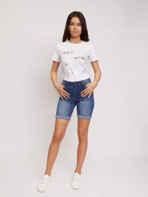 Джинсовые шорты женские Zolla z02124724Q01250D0 синие L