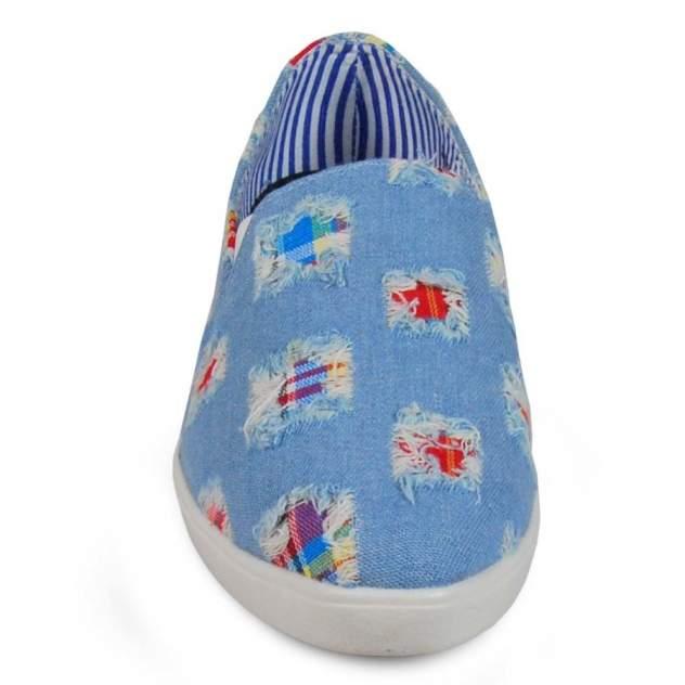 Слипоны женские SPUR 3579-01-09 голубые 37 RU