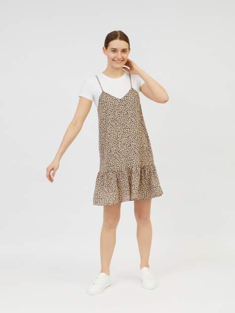 Платье-сарафан женское Zolla z22124825907319P0 бежевое XXL