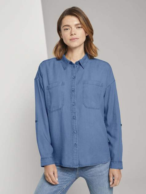 Женская джинсовая рубашка TOM TAILOR 1024141, синий