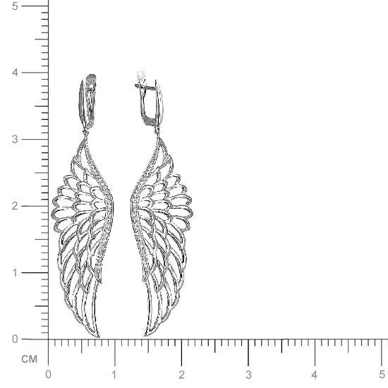 Серьги женские из серебра Эстет 01С158364, фианит