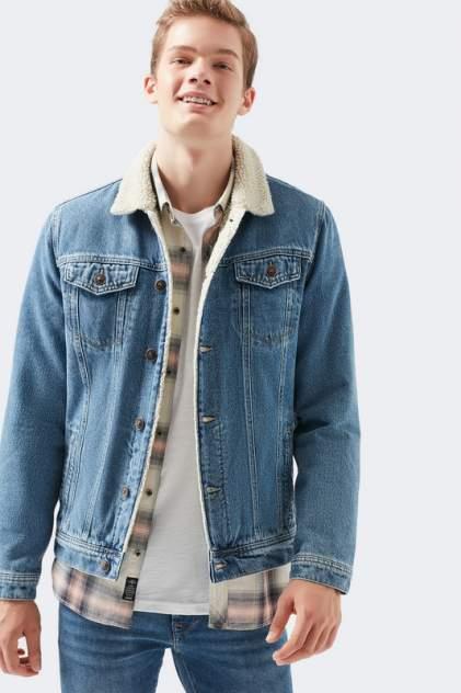 Джинсовая куртка мужская Mavi 115229914 синяя M