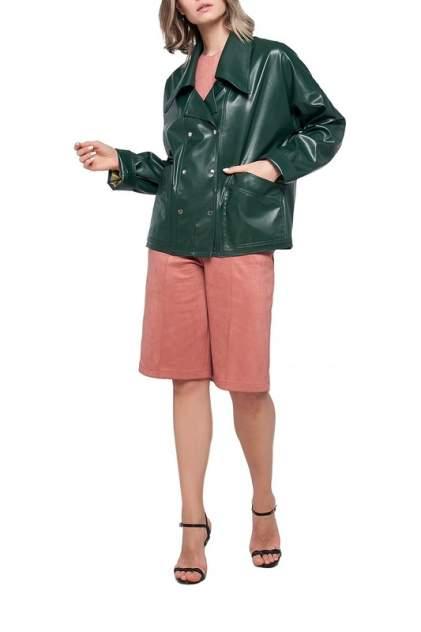 Кожаная куртка женская LIMONTI 758702 зеленая 42