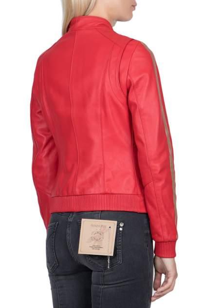 Кожаная куртка женская PATRIZIA PEPE 101541 красная 40