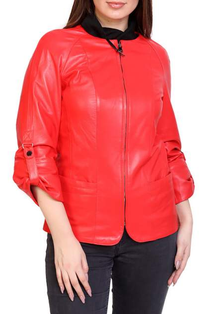 Кожаная куртка женская EXPO FUR S.86 красная 38