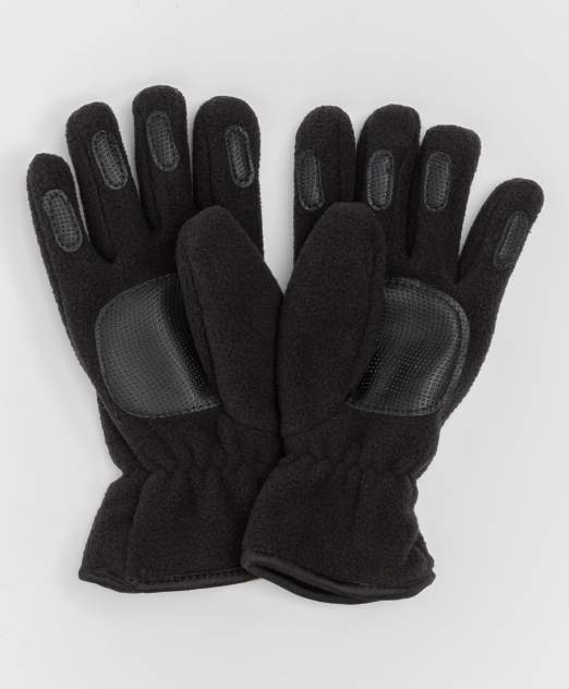 Черные флисовые перчатки Button Blue 220BBBA76010800, размер 18