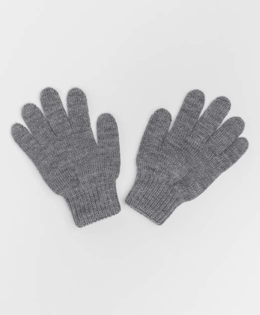 Серые вязаные перчатки Button Blue 220BBBJX76021900, размер 18