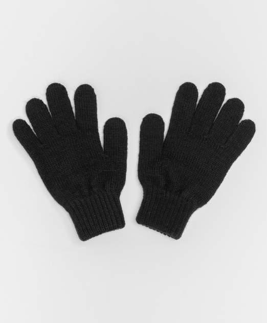 Черные вязаные перчатки Button Blue 220BBGJX76010800, размер 16