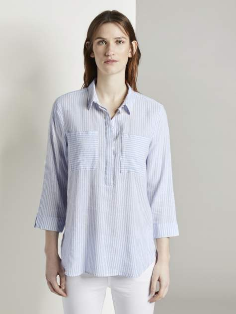 Женская рубашка TOM TAILOR 1019973, синий