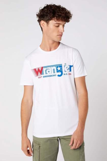 Футболка мужская Wrangler SS WRANGLER TEE WHITE белая 4XL