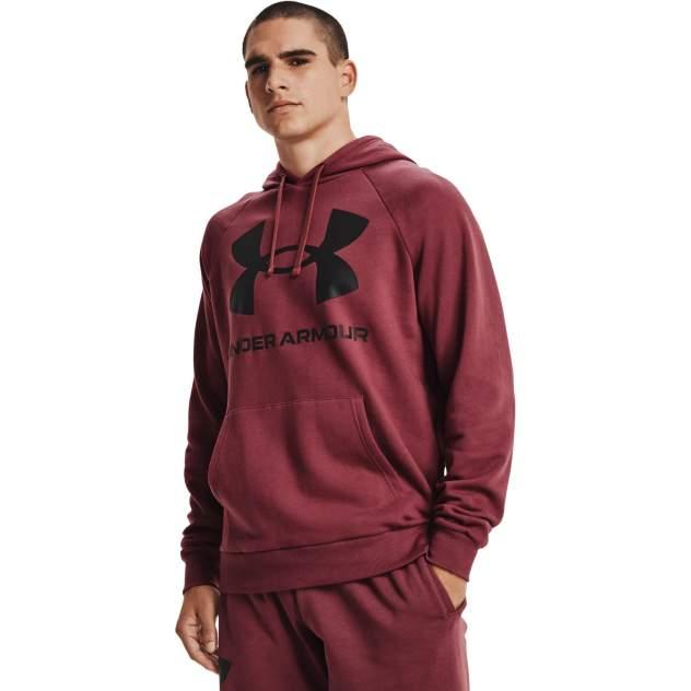 Толстовка мужская Under Armour UA Rival Fleece Big Logo HD бордовая 3XL