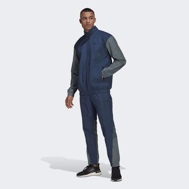 Мужской костюм Adidas M METALLIC TS, синий