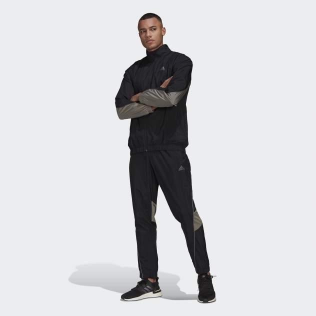 Мужской костюм Adidas M METALLIC TS, черный