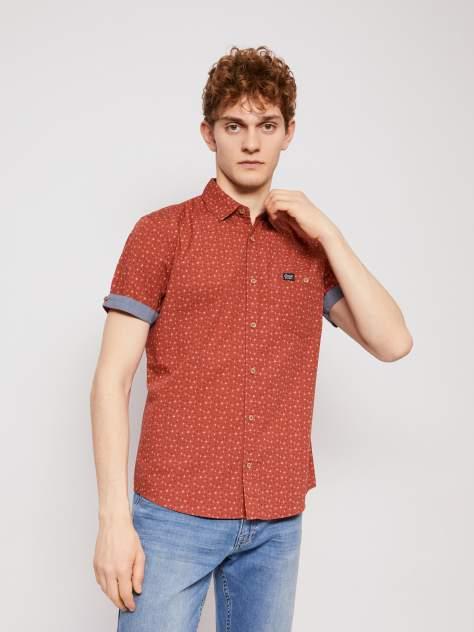 Джинсовая рубашка мужская Zolla z21123227Y04130P0 красная XL