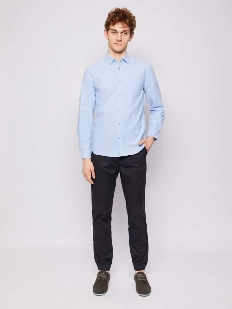 Джинсовая рубашка мужская Zolla z0112321590435100 голубая S