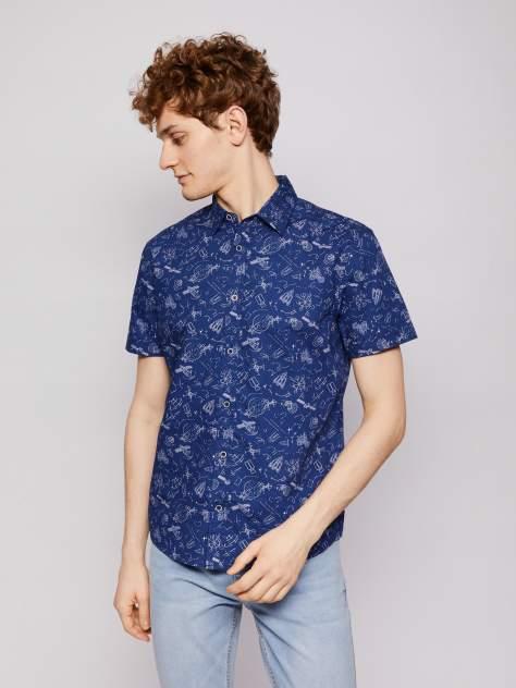 Джинсовая рубашка мужская Zolla z21123225903158P0 синяя L