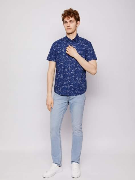 Джинсовая рубашка мужская Zolla z21123225903158P0 синяя M
