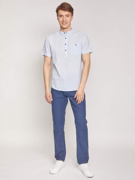 Джинсовая рубашка мужская Zolla z2112422590135100 голубая XXXL