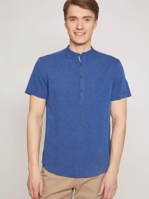 Джинсовая рубашка мужская Zolla z2112422590135000 синяя S