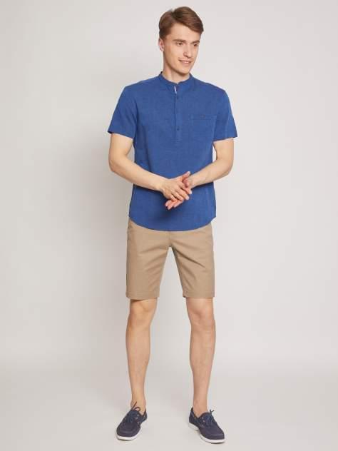 Джинсовая рубашка мужская Zolla z2112422590135000 синяя 4XL