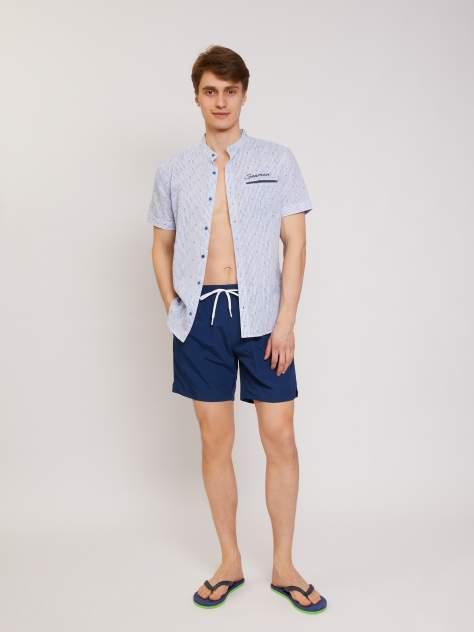 Джинсовая рубашка мужская Zolla z01124225908150S0 синяя XXXL