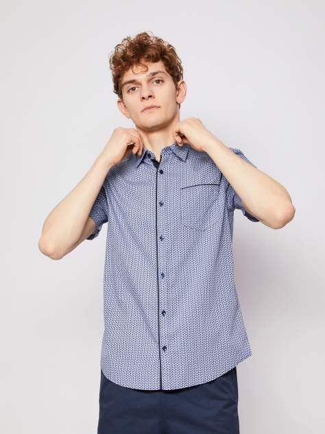 Джинсовая рубашка мужская Zolla z01123220607350P0 синяя M