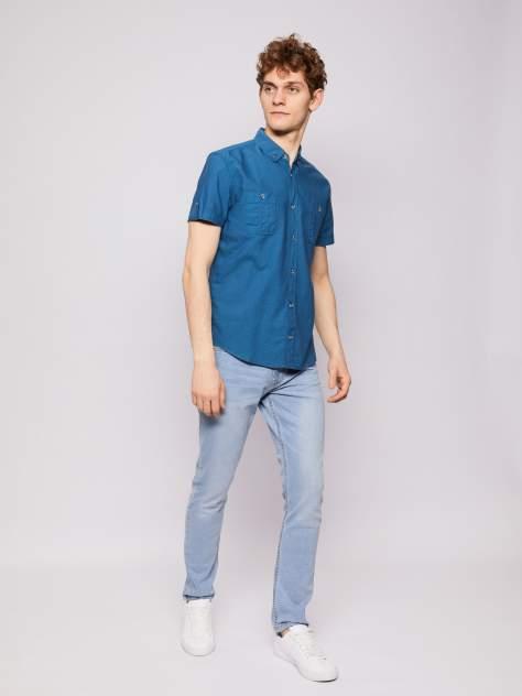 Джинсовая рубашка мужская Zolla z0112322060636000 бирюзовая M