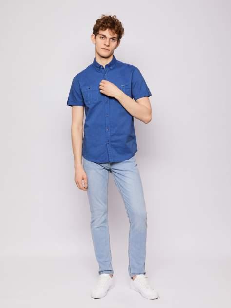 Джинсовая рубашка мужская Zolla z0112322060635000 синяя XL