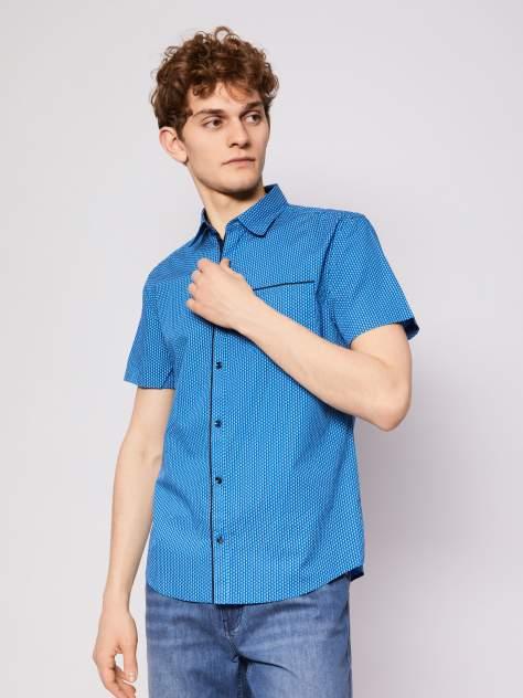 Джинсовая рубашка мужская Zolla z01123220604350P0 синяя M