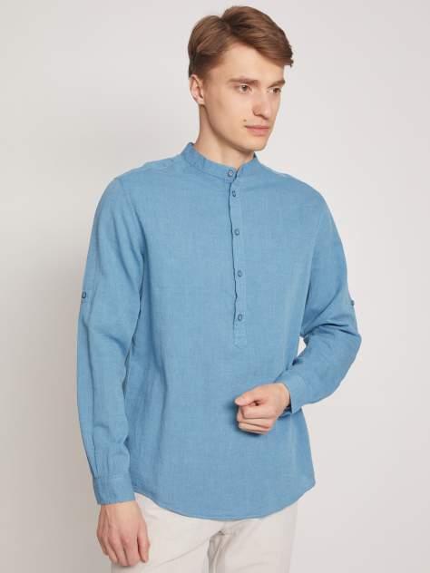 Джинсовая рубашка мужская Zolla z0112121590336000 бирюзовая L