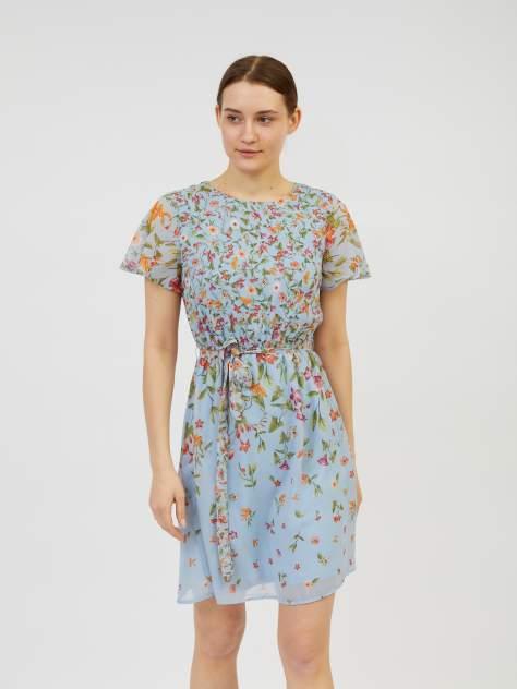 Повседневное платье женское Zolla z02123827Y23351P0 голубое XL