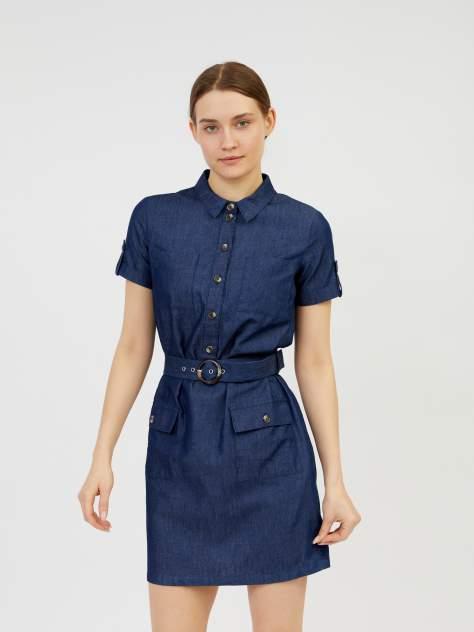 Платье-рубашка женское Zolla z0212382391135000 синее XXL