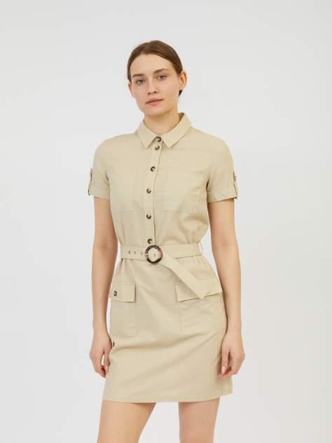 Платье-рубашка женское Zolla z0212382390931900 бежевое L