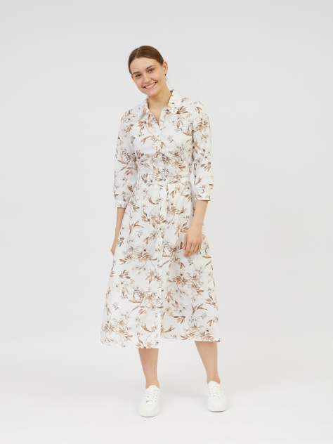Повседневное платье женское Zolla z02123829113310P0 бежевое XL