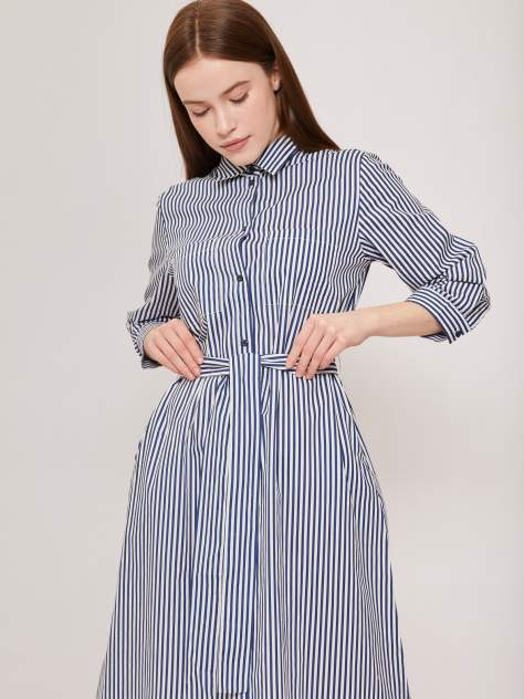 Повседневное платье женское Zolla z02123829103359S0 синее XL