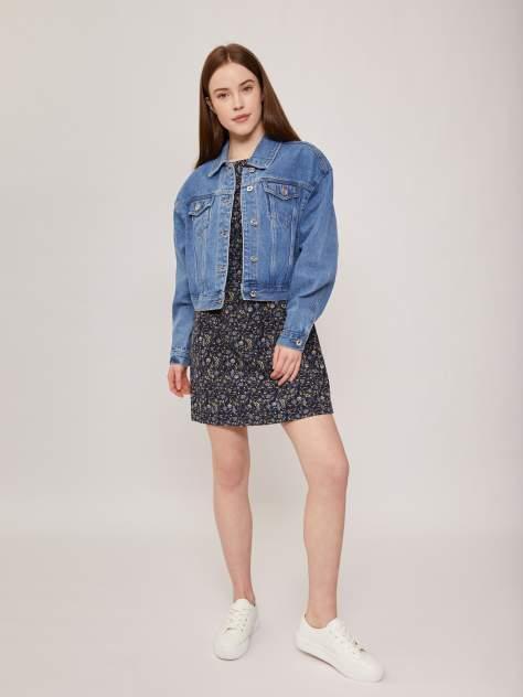 Женская джинсовая куртка Zolla z221245D5Y0315100, голубой