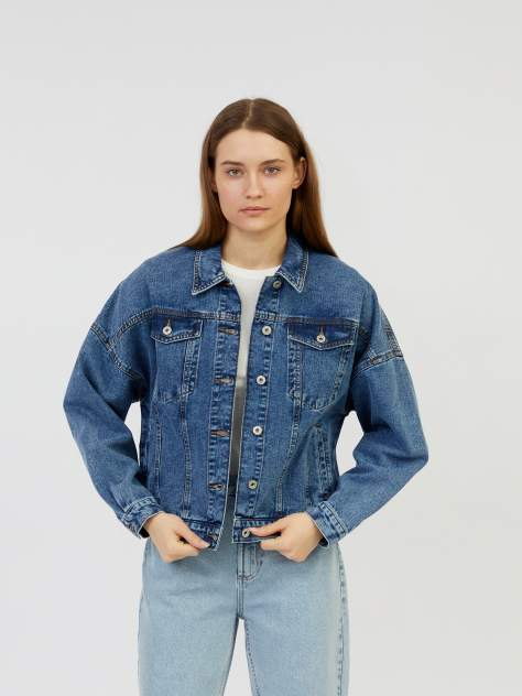 Женская джинсовая куртка Zolla z221235D4Q01350D0, синий
