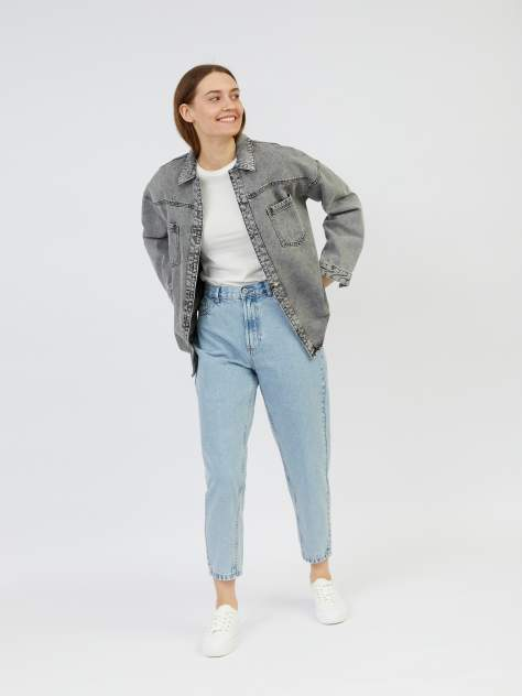 Женская джинсовая куртка Zolla z221235D4Q0419100, серый