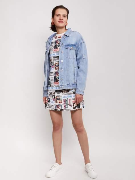 Женская джинсовая куртка Zolla z021215D1701351D0, голубой