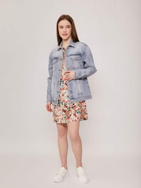 Женская джинсовая куртка Zolla z021235D4S03351D0, голубой