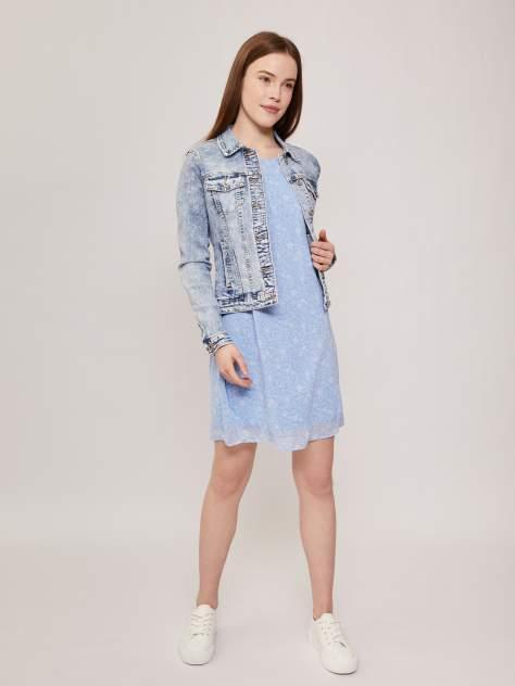 Женская джинсовая куртка Zolla z221235D4S02251D0, голубой