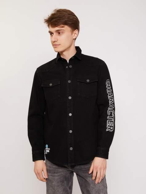 Джинсовая куртка мужская Zolla z211215D7R03199D0 черная L