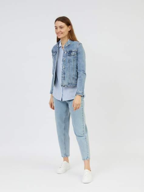 Джинсовая куртка женская Zolla z021235D4S0125100 голубая XXL