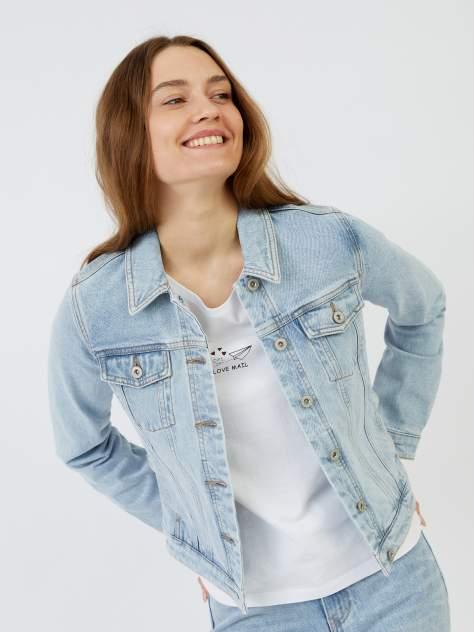 Женская джинсовая куртка Zolla z021235D4S0125500, голубой