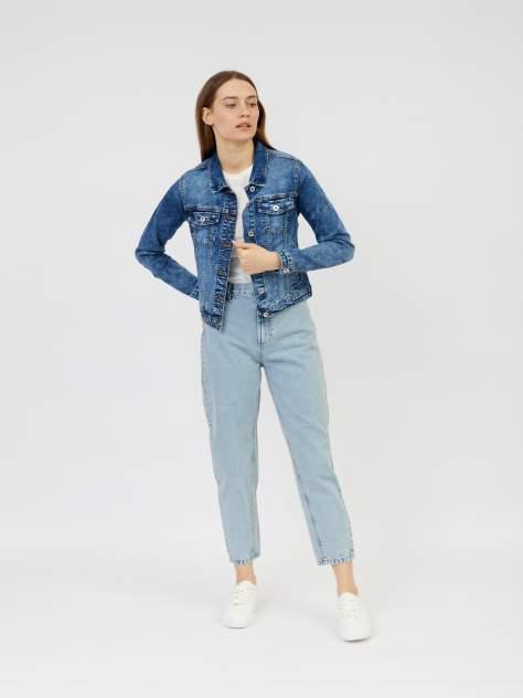 Джинсовая куртка женская Zolla z021235D4S0125000 синяя M