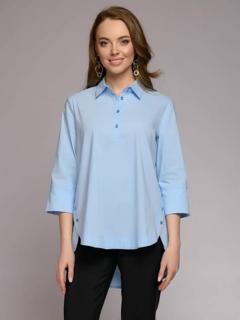 Рубашка женская 1001dress 0212007-00077LB голубая 54