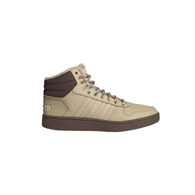 Кроссовки мужские adidas HOOPS 2.0 MID бежевые 9.5 UK