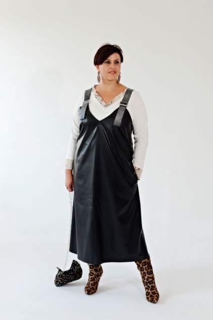 Женское платье Миллена Шарм OverSize 46548, черный