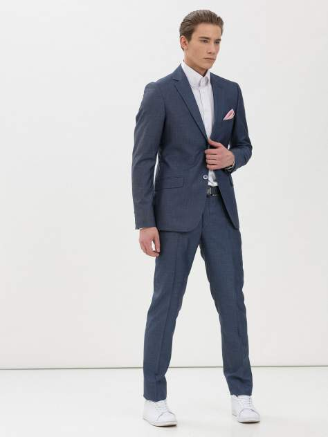 Мужской костюм Marc De Cler Ks 24196OL-182, голубой, серый, синий